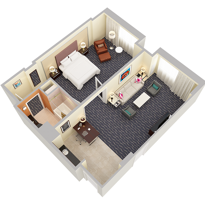 One Bedroom Suite - View 1