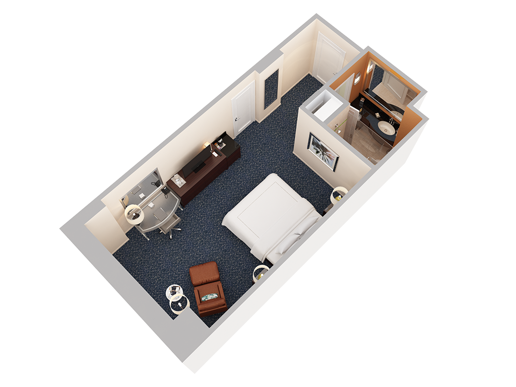 3d floor plans hotel gallery the hilton orlando executive king room view 1