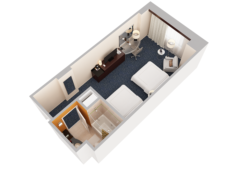 3d floor plans hotel gallery the hilton orlando executive 2 queen room view 2