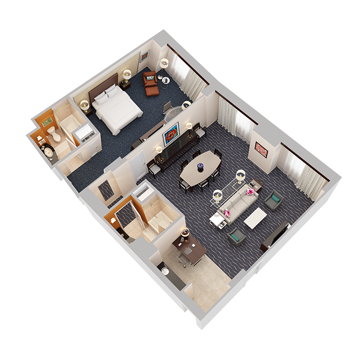 Hospitality Suite - One Bedroom (1 King Bed) - View 1