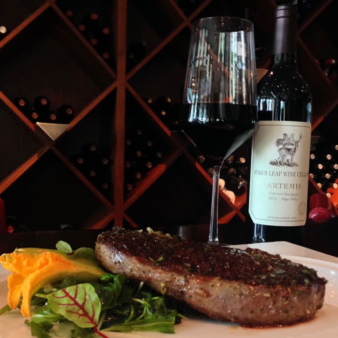 Spencer's for Steaks and Chops features steaks aged 21-28 days