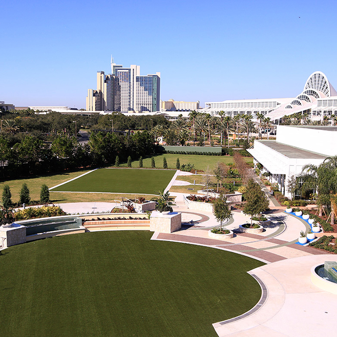 The Promenade offers 50,000 sq ft of space for outdoor events