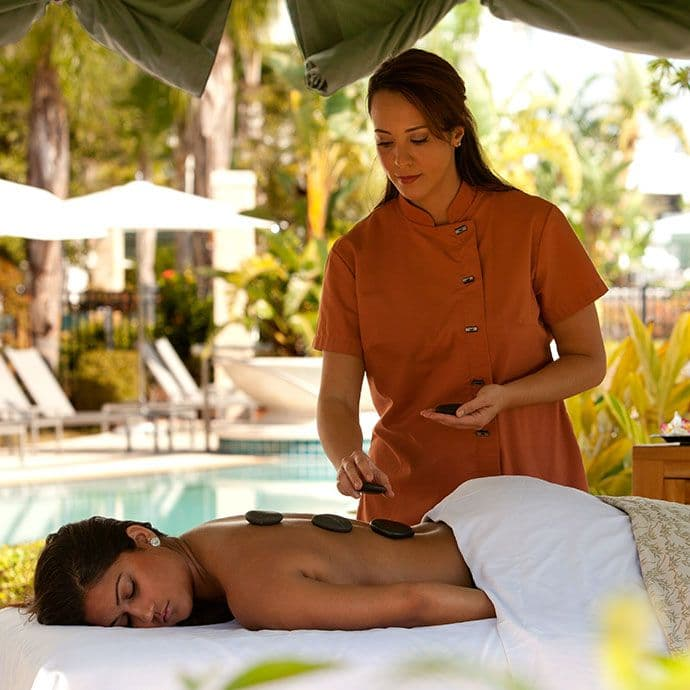 Private Cabana massage treatments are also available