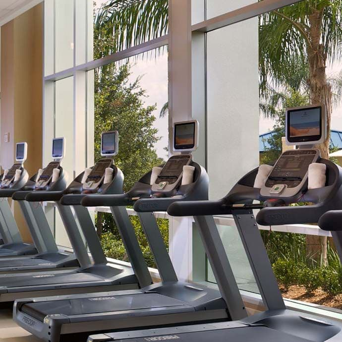 4,000 sq ft Fitness Center overlooking recreational area