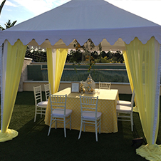 Tenting options available for your outdoor reception