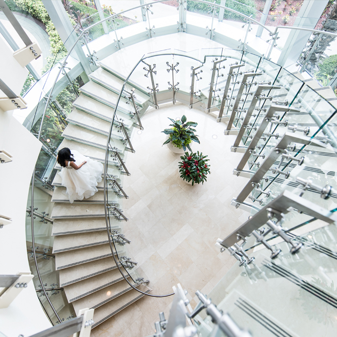 The Grande Staircase, overlooking our maginifcent recreational amenities