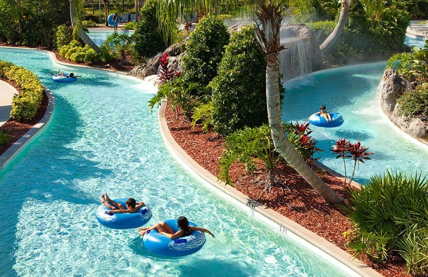 Pools lazy river recreation hilton orlando for Pool design orlando florida